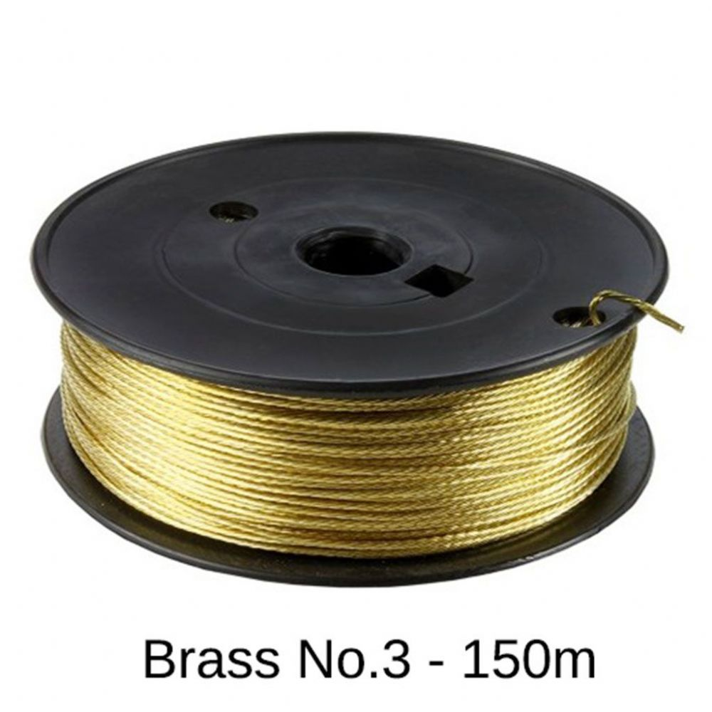 Brass Picture Hanging Wire (#3/18kg) - 150m Roll